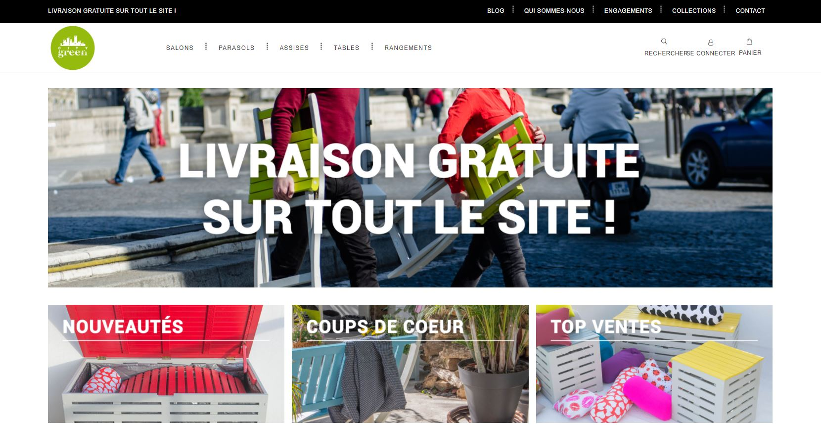 CityGreen site actuel woocommercce
