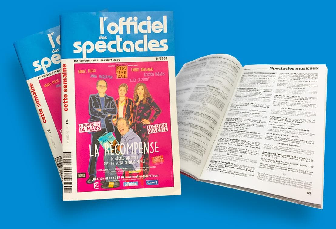 version papier de l'officiel du spectacle